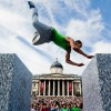 World championships freerunning London, trafalgarsquar