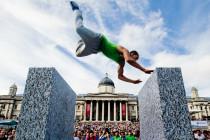 World championships freerunning London, trafalgarsquar